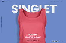 Women's Ghosted Singlet Template