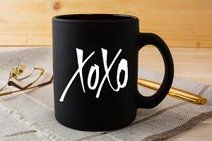 XOXO custom lettering