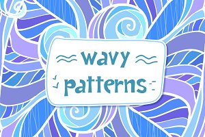 12 ornate wavy seamless patterns