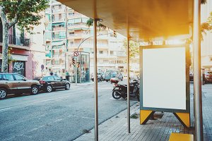 Mock up of billboard