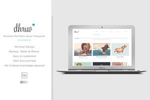 Dhruv - Minimal Muse/HTML Template