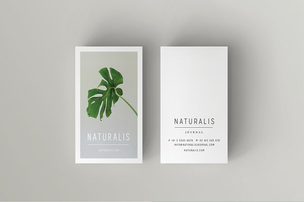 Business Card Templates: 46&2 Collective - NATURALIS Business Card Template