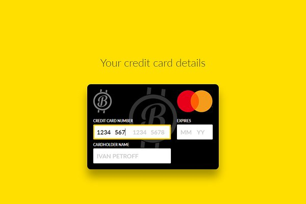 interactive credit card html  css psd template  free