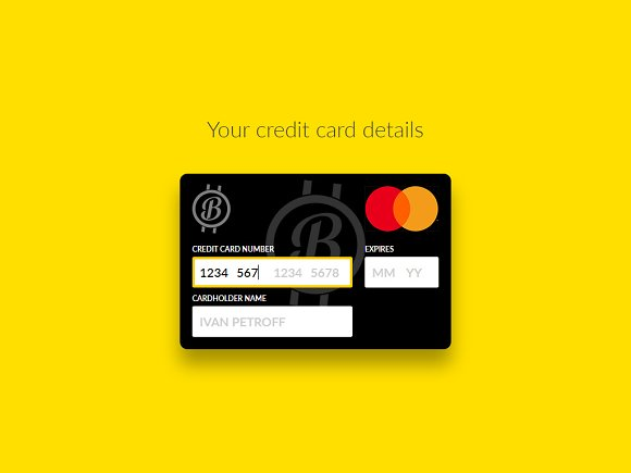 Interactive Credit Card HTML CSS