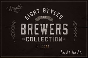 The Brewers Font Collection: 8 Fonts