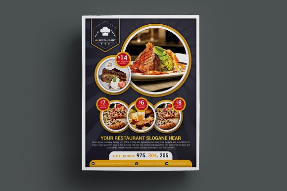 Restaurant Flyer Templates in Flyer Templates