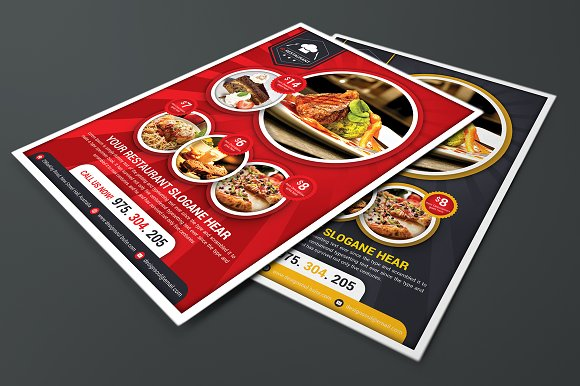 Restaurant Flyer Templates in Flyer Templates - product preview 1