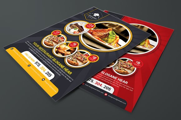 Restaurant Flyer Templates in Flyer Templates - product preview 2