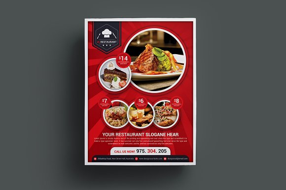 Restaurant Flyer Templates in Flyer Templates - product preview 3