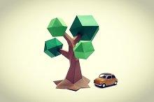 DIY Low poly Tree - 3d papercrafts