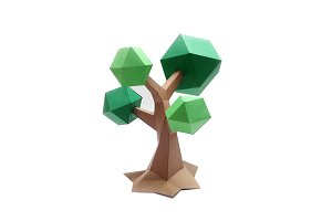 DIY Low poly Tree - 3d papercrafts