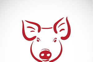 Vector of a pig head.