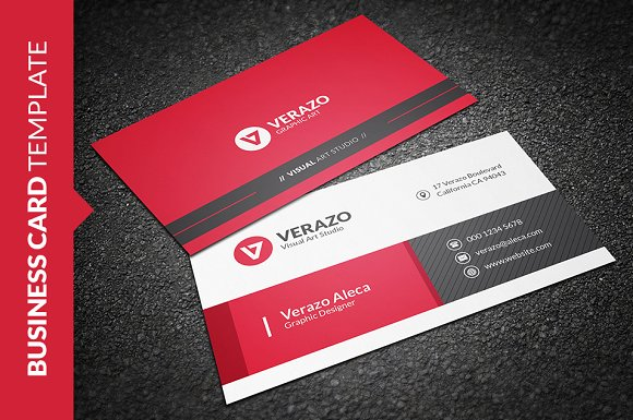 Stylish Business Card Template Business Card Templates - Graphic design business card templates