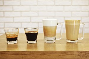 Four kinds of coffee