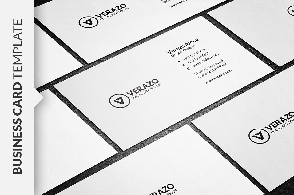 Simple Minimalist Business Card ~ Business Card Templates ~ Creative ...