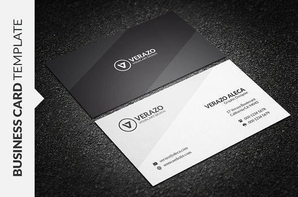 modern minimalist business card business card templates creative market - Minimalist Business Card