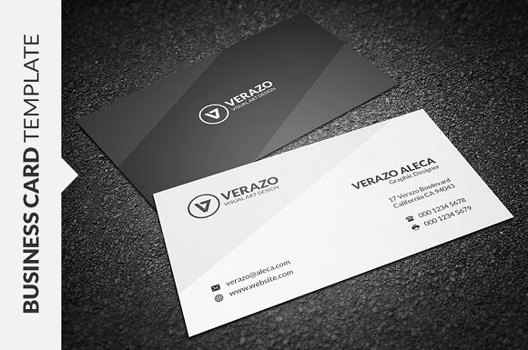 Modern minimalist business card business card templates creative modern minimalist business card business card templates creative market fbccfo Image collections