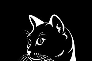 Vector of a cat face design.