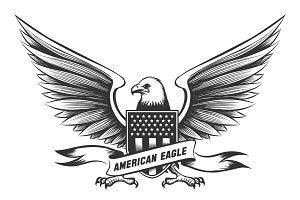 American bald eagle emblem