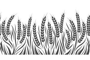 Harvest horizontal wheat pattern