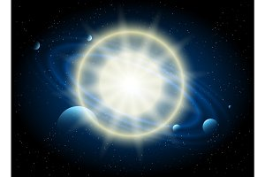 Star and planet astronomy background