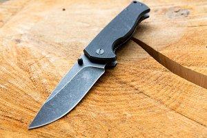 Folding knife black.