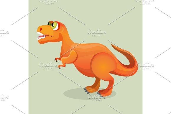 Tyrannosaurus, tyrant lizard isolated on white. Dinosaurs character monster