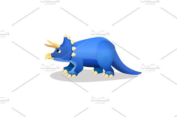 Styracosaurus, spiked lizard isolated on white.