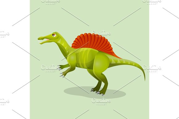 Iguanodon, iguana-tooth isolated. Ornithopod dinosaur