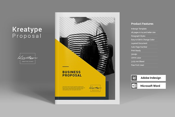 Kreatype proposal brochure templates creative market kreatype proposal brochures cheaphphosting Images