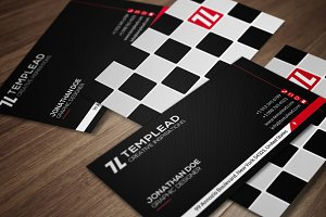 Back And White Business Card CM124