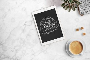iPad with coffee + PSD 24-0005