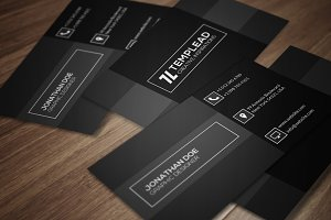 Clean And Retro Business Card CM125