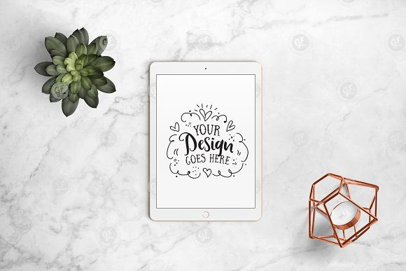 Download iPad mockup on marble 24-0006