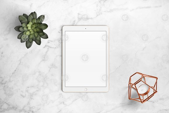iPad mockup on marble 24-0006 in Mobile & Web Mockups - product preview 3