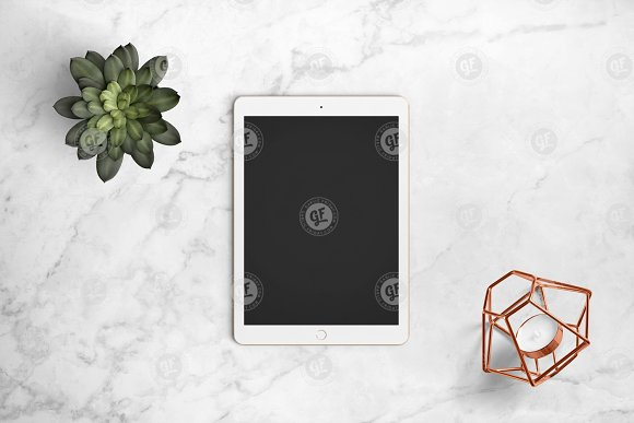 iPad mockup on marble 24-0006 in Mobile & Web Mockups - product preview 4