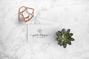 Greeting card mockup + PSD 26-0007
