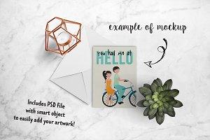 Simple card mockup + PSD 24-0008