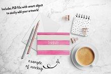 Cute greeting card mockup + PSD