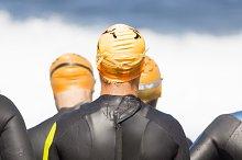triatlhetes in triathlon competition