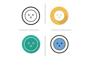 Bowling ball. 4 icons. Vector