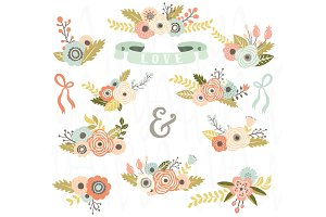 Floral Clip Art Set