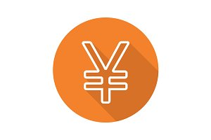 Japanese yen sign. Vector
