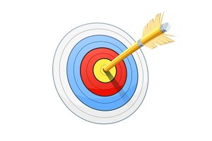 Arrow and target for bow shooting