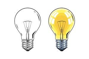 Shining Electric bulb.