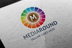 Media Round (Letter M) Logo