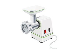 Electric Meat grinder. Kitchen equipment.