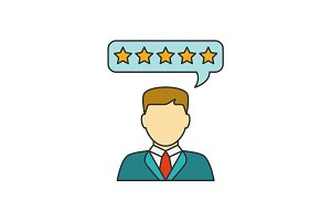 Customer reviews line icon