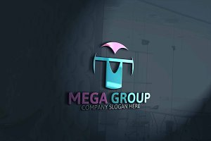 Mega Group / M Letter Logo