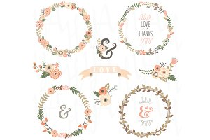 Vintage Floral Wreath Collection
